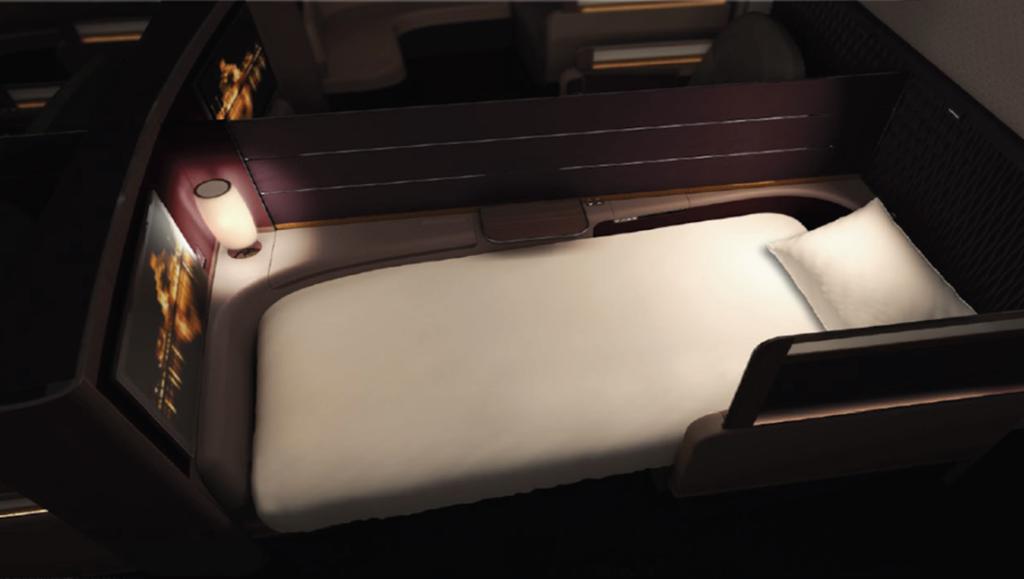 qatar airways bed