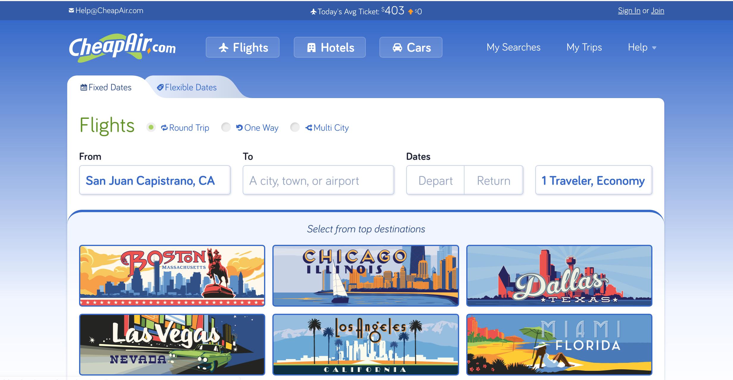book cheap flights with cheapair.com