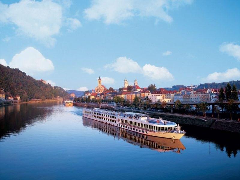 european cruises viking ship on river