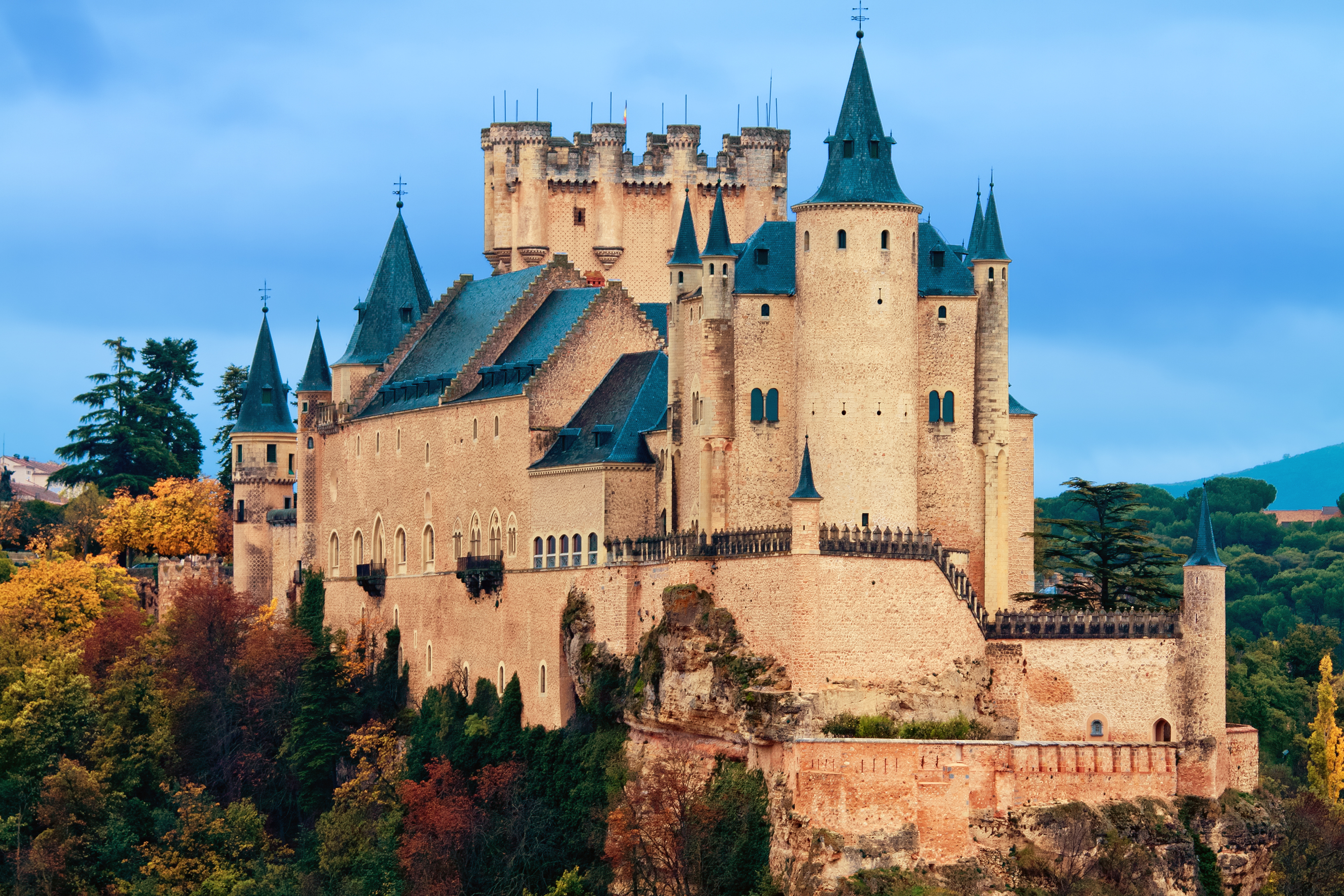 most impressive castles Alcazar Castle in Segovia, Spain