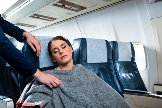 tips for long flights, how to sleep on a plane