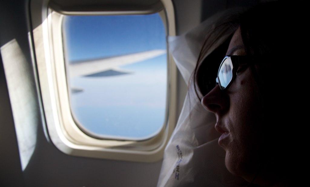 sleeping on a plane