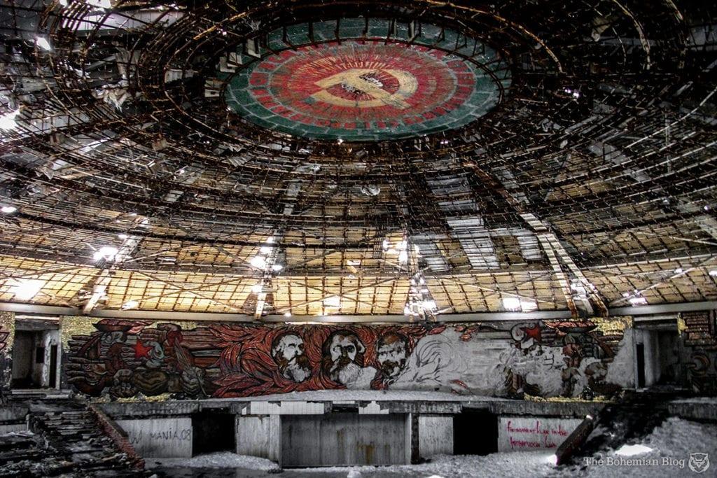 abandoned places bulgarian communist party house, bulgary