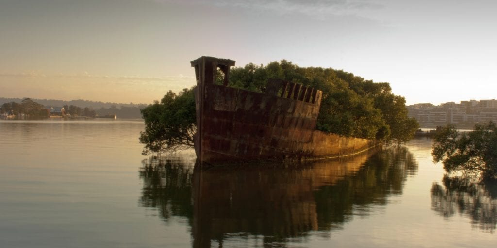 abandoned places ss ayrfield in homebush bay, australia2