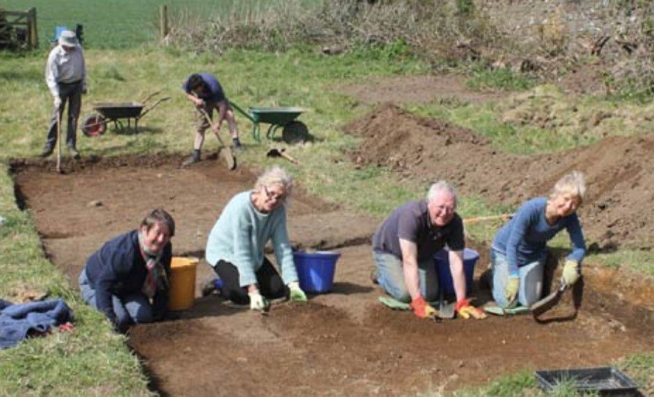 archaeological dig investigates old chain