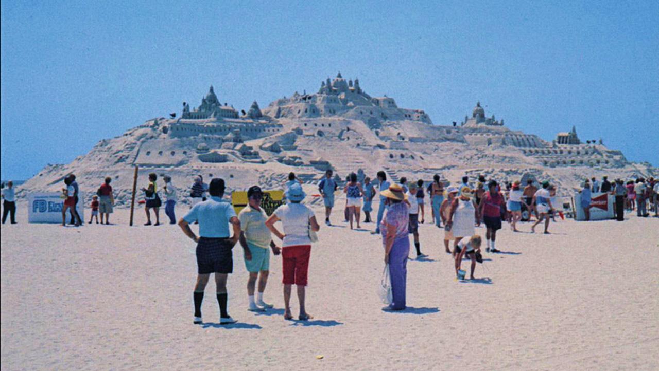 Atlantis San Diego among sandcastles