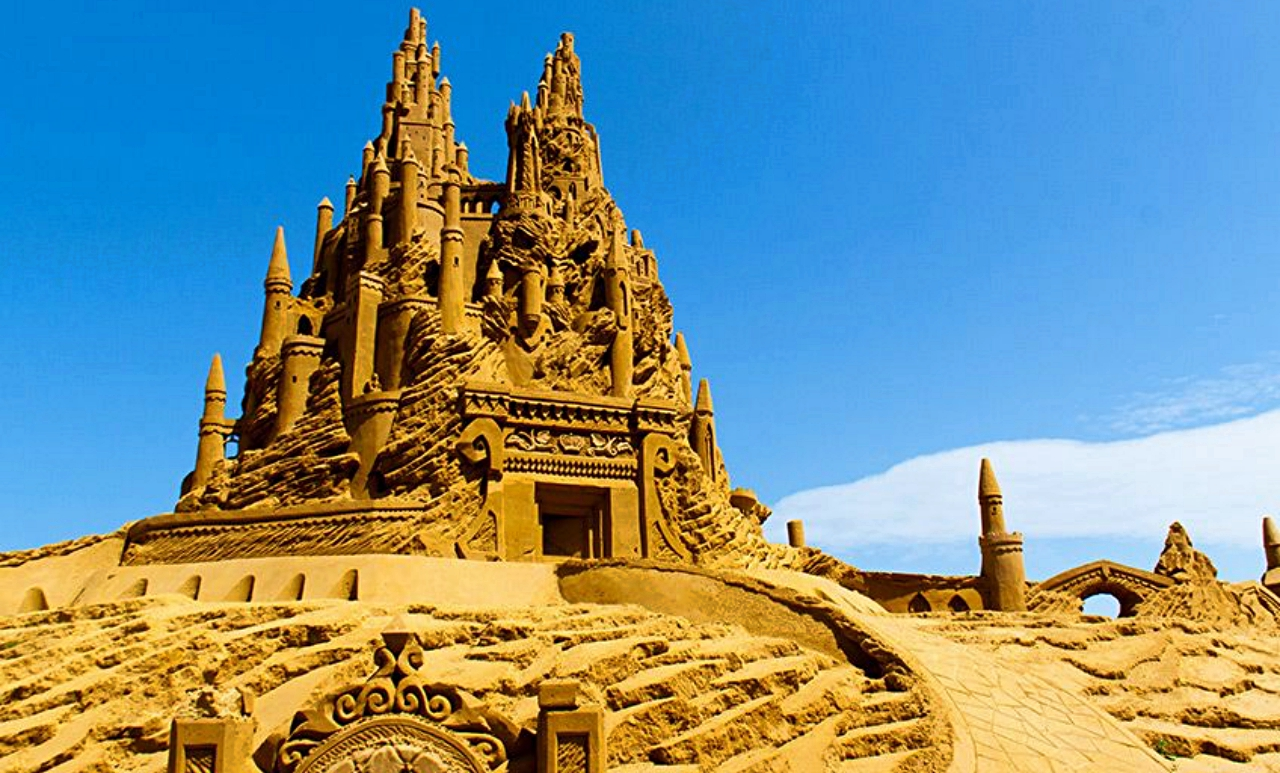 Blankenberge among sandcastles