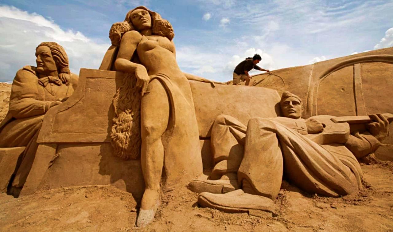 Sand World among impressive sandcastles