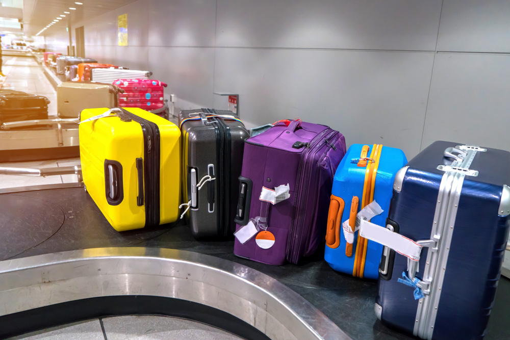 luggage at conveyor belt locks