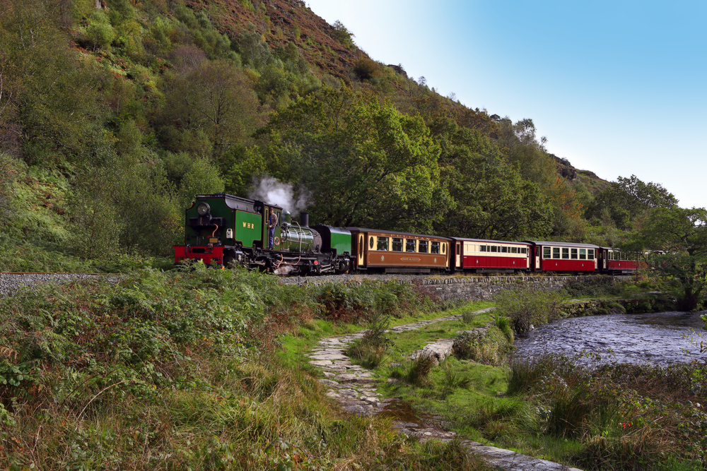 The Ffestiniog and Welsh Highland Railway, Snowdonia National Park,