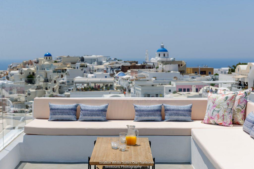 Enalion White Suites in Oia of Santorini island