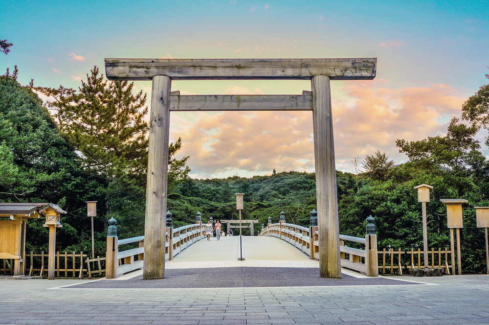 Scenery of the Ise Grand Shrine in the sunset