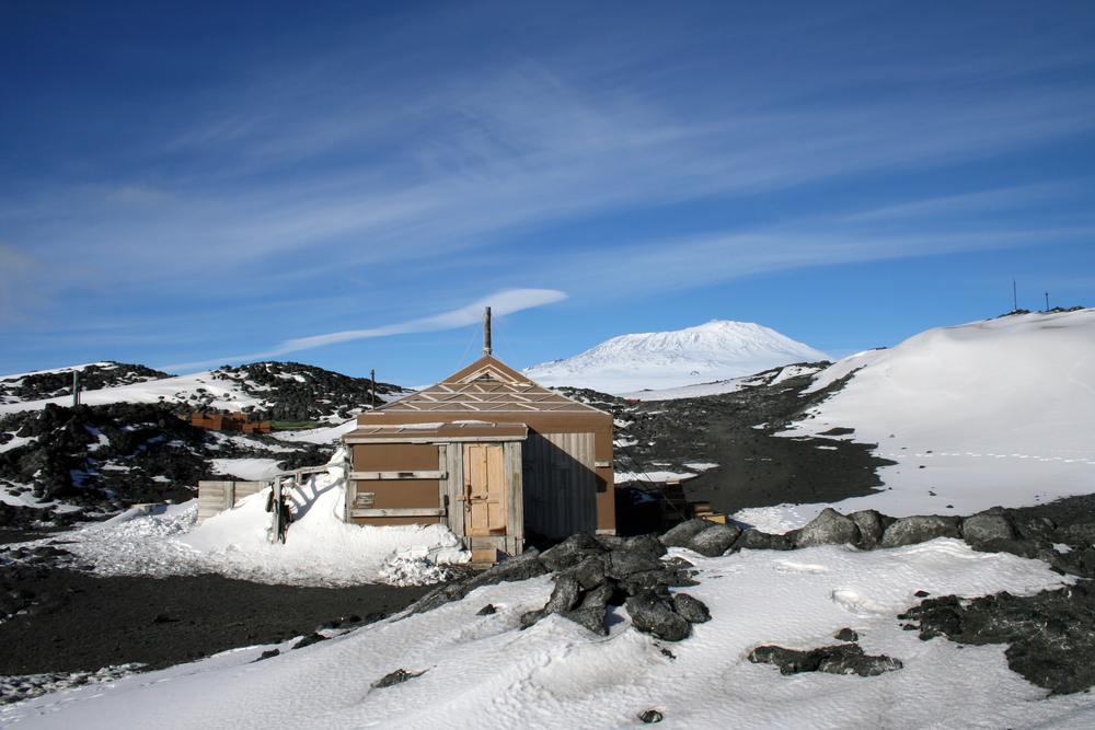 Sir Ernest Shackleton's hut by the shores of McMurdo Sound, Antarctica
